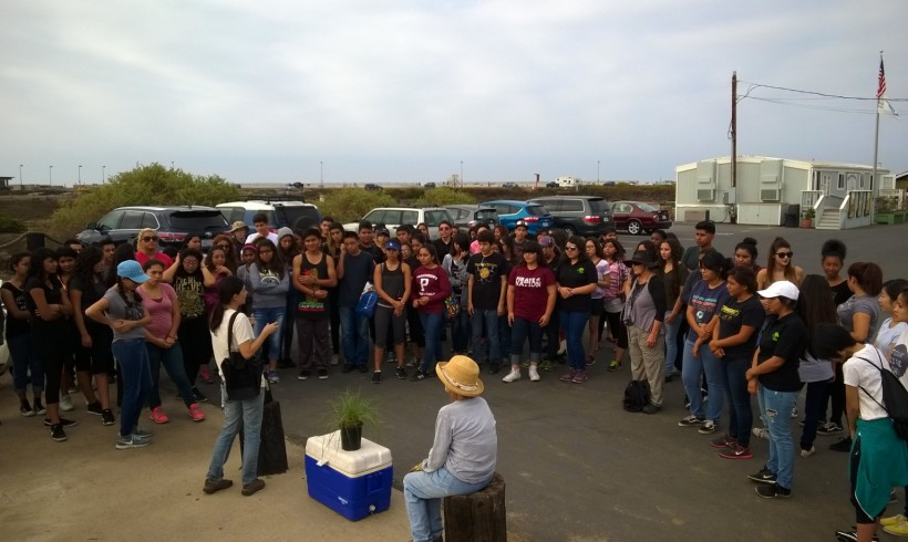 Paramount High School Green Club members talk about volunteering at Bolsa Chica