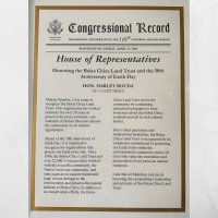 BCLT Honored with a Congressional Record