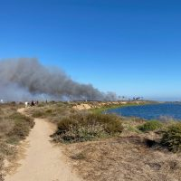 Bolsa Chica Fire (7/26/20) from the Bolsa Chica Stewards' Perspective